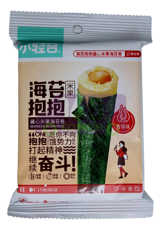 SUSHI SEAWEED ROLL-SPICY FLV 小青苔 酱心米果海苔卷 香辣味(21G)