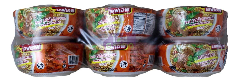 PHO NOODLES- BEEF FLAVOUR FF牛肉味碗装方便面(6碗)