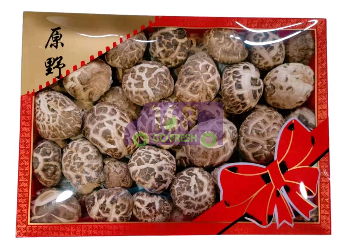 JAPANESE DRIED SHIITAKE MUSHROOM (L)8OZ 原野牌 日本优质花菇(大)8oz