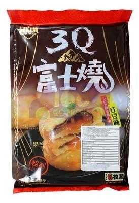 WHEAT FLOUR CAKE RED BEAN 超佰味 3Q 富士烧 红豆味(6枚装)