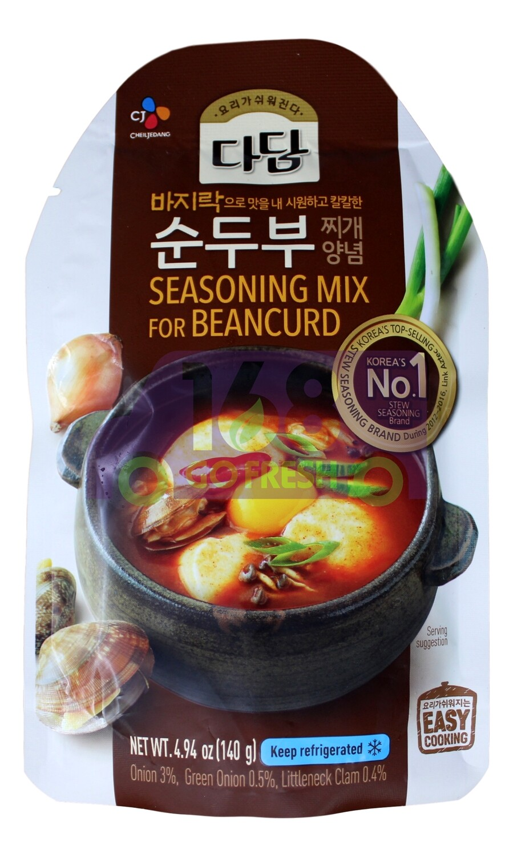 SEASONING MIX FOR BEANCURD 韩国 CJ  鸡蛋豆腐炖白蛤汤底(140G)