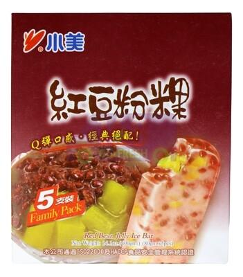 CHIAO MEI -  RED BEAN & RICE JELLY ICE BAR 小美 红豆粉果冰棒