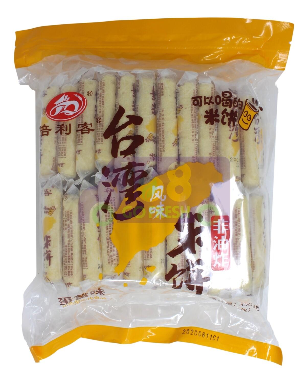 RICE CRACKERS  倍利客 台湾风味米饼 蛋黄味(350G)