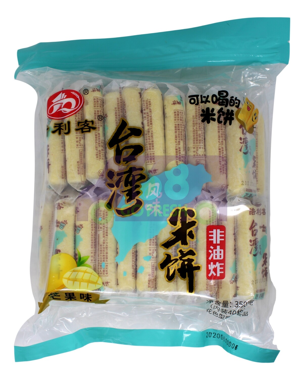 RICE CRACKERS  倍利客 台湾风味米饼 芒果味(350G)