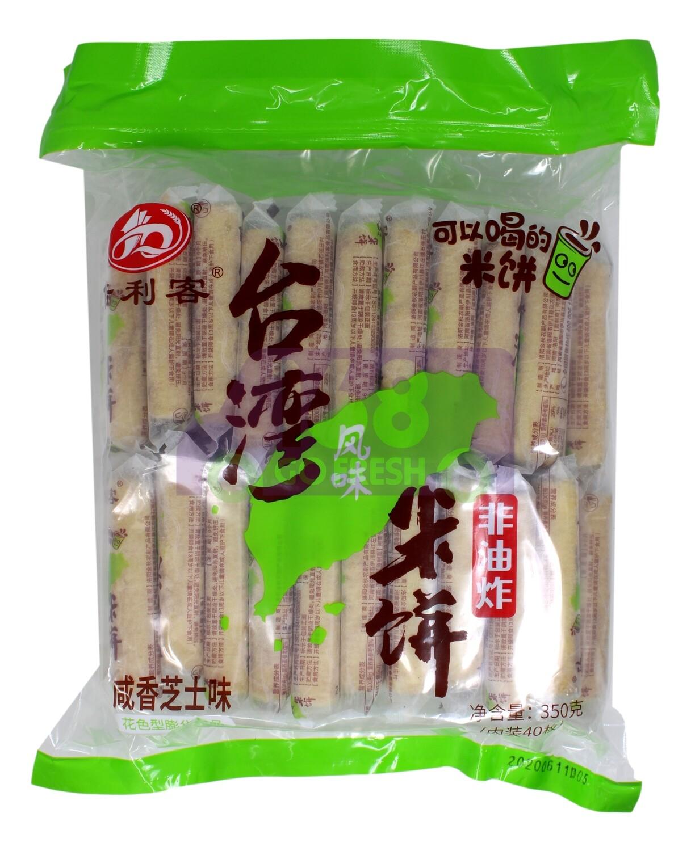 RICE CRACKERS  倍利客 台湾风味米饼 咸香芝士味(350G)