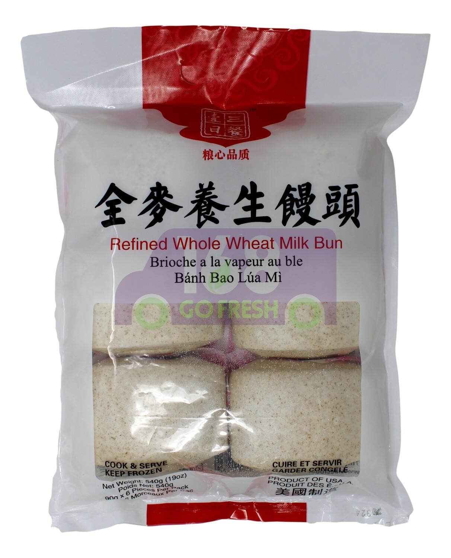 Refined Whole Wheat Milk Bun  一日三餐 全麦养生馒头(540G)