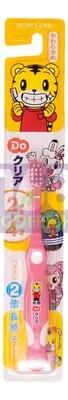 SUNSTAR  ORA2  Kids Toothbrush (2-4 Year Old)-Pink 1ea 日本巧虎儿童耐用软毛牙刷(2岁-4岁)--粉红  1个