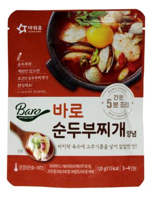 SPICY SOFT TOFU BASE 韩国 OURHOME (辣豆腐汤)豆腐炖白蛤汤底(120G)