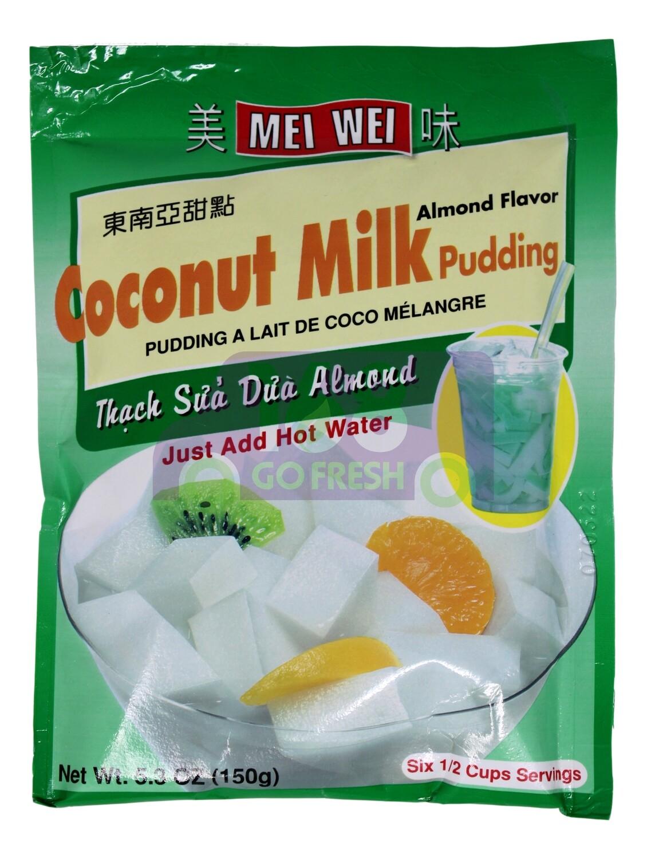 MEI WEI COCONUT MILK PUDDING /ALMOND FLAVOR 美味 椰奶布丁/杏仁风味