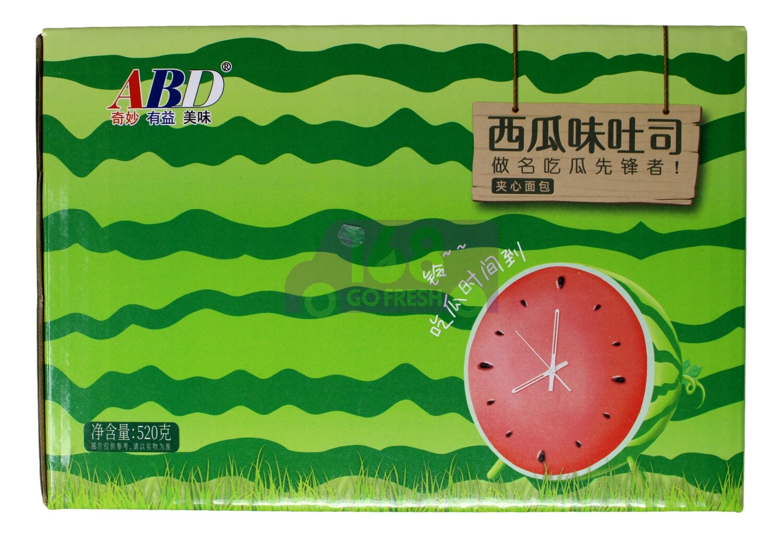 ABD WATERMELON FLAVOR TOAST BREAD ABD 西瓜味吐司(520G)
