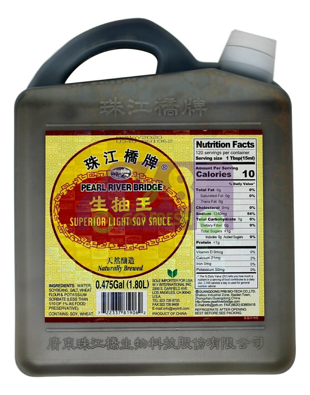 SUPERIOR LIGHT SOY SAUCE (大瓶)珠江桥牌 生抽王(1.8L)