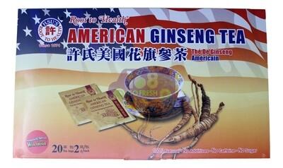 【ON SALE 热卖促销】HSU'S Root to Health American Ginseng Tea 20sachets 40g 美国许氏 花旗参茶 20包 40g(原价$10.99)