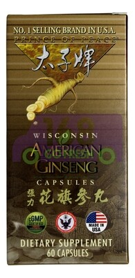Prince of Peace American Ginseng Capsules 60cap太子牌强力花旗参丸 60粒