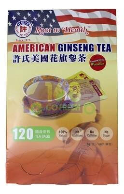 【ON SALE 热卖促销】HSU'S Root to Health American Ginseng Tea 20sachets 40g 美国许氏 花旗参茶 120包 240g(原价$53.99)