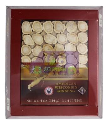 Prince of Peace Wisconsin American Ginseng Large Slices(AC-SL4)4 oz 太子牌威斯康辛州花旗参片大号礼盒装4oz