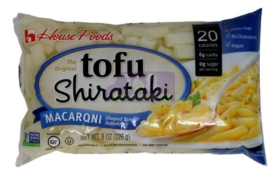 HOUSE FOODS TOFU SHIRATAKI - MACARONI 日本 HOUSE FOODS 蒟蒻 魔芋通心粉4118 (8OZ)