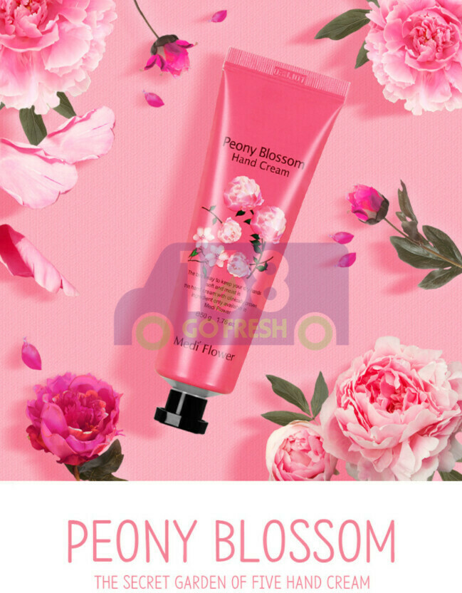 【ON SALE 热卖促销】MEDI FLOWER  The Secret  Garden  Hand Cream - Peony Blossom 50g  韩国秘密花园保湿滋润护手霜1支装-牡丹花50g (原价$4.29)