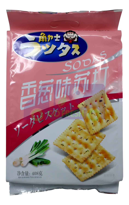 SODA CRACKS GREEN ONION 角力士香葱味苏打饼干(408G)