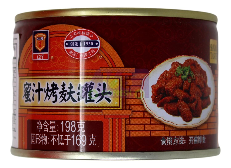 MALING CANNED BRAN IN HONEY SAUCE 梅林 蜜汁烤麸罐头(198G)