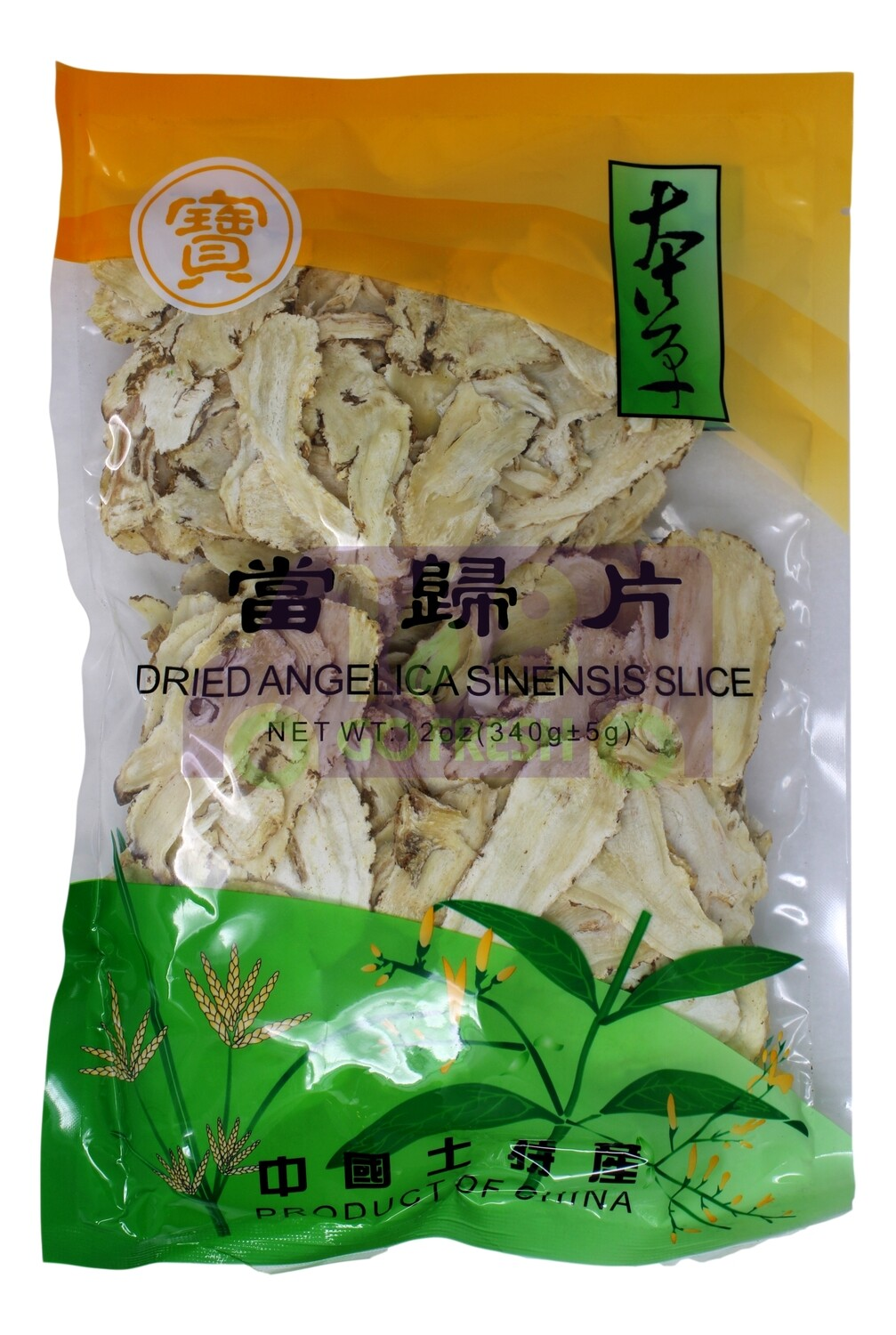 DRIED ANGELICA SINENSIS SLICE 宝牌 当归片(12OZ)