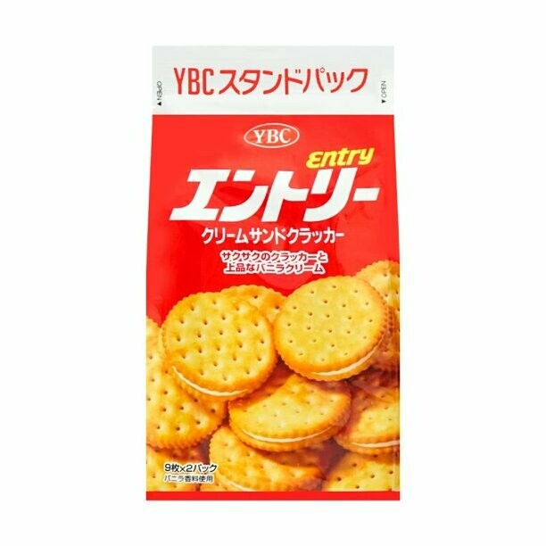CRACKER YBC ENTRY CREAM SANDWICH 日本 YBC奶油夹心饼干(红)