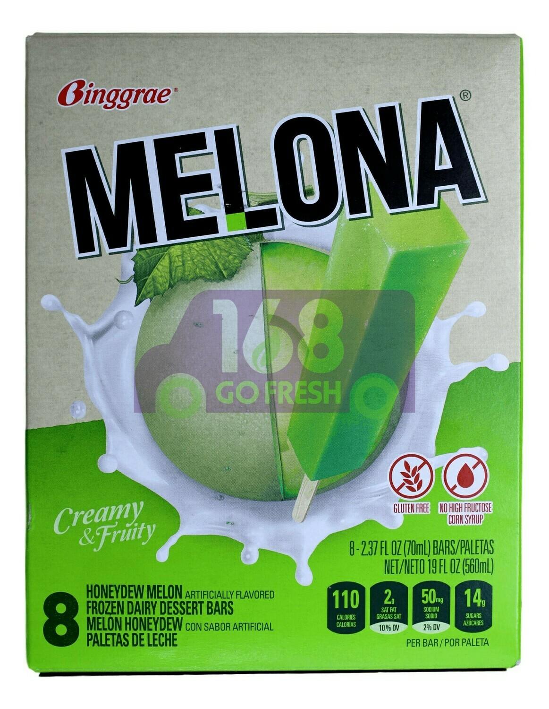 MELONA MELON FLAVORED ICE BAR BINGGRAE - 哈密瓜味冰棒(8条装)