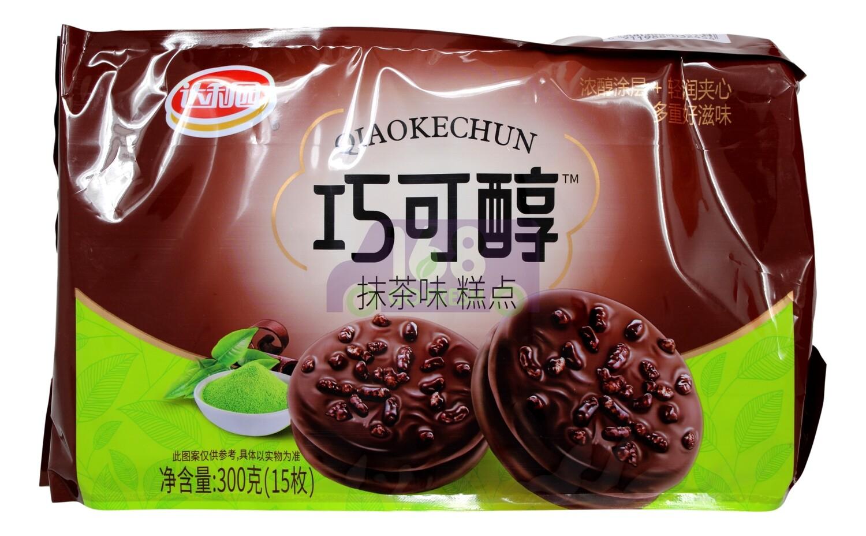 DALIYUAN CAKE-MATCHA FLV 达利园 巧可醇 抹茶味糕点(300G)