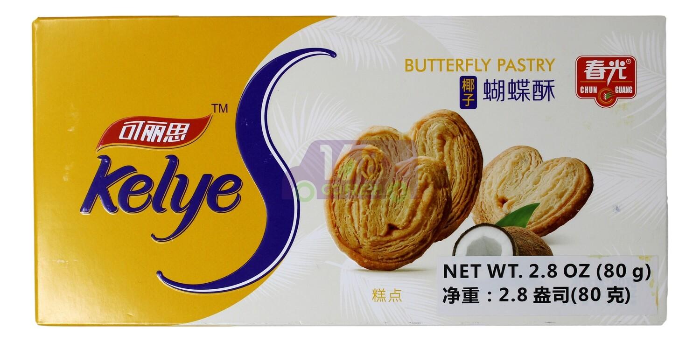 BUTTERFLY PASTRY-COCONUT FLV 春光 可丽思 椰子蝴蝶酥(2.8OZ)