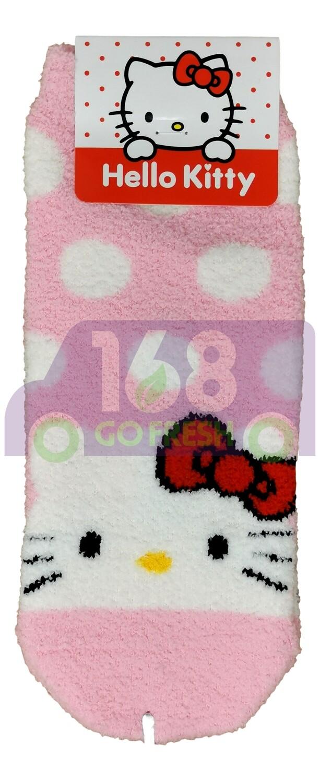 Hello Kitty Fluffy Socks 1pair 凯蒂猫珊瑚绒蓬松短袜1对