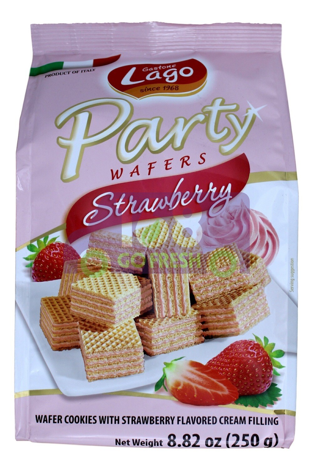 PARTY WAFERS - STRAWBERRY Lago Party 草莓味迷你威化饼(250G)
