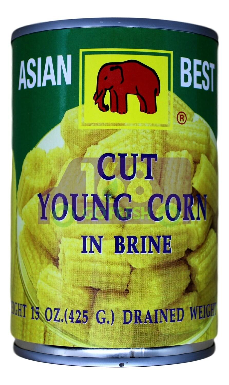 ASIAN BEST YOUNG CORN CUT 亚洲第一 切段嫩玉米罐头(15OZ)