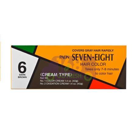 JAPAN PAON SEVEN-EIGHT Permanent Hair Color Refill (#6 Dark Brown) 40g日本早染染发膏/染发剂#6(Dark Brown) 40g