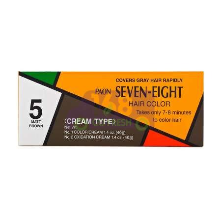 JAPAN PAON SEVEN-EIGHT Permanent Hair Color Refill (#5 Matt Brown) 40g日本早染染发膏/染发剂 (#5 亚光褐色 Matt Brown) 40g