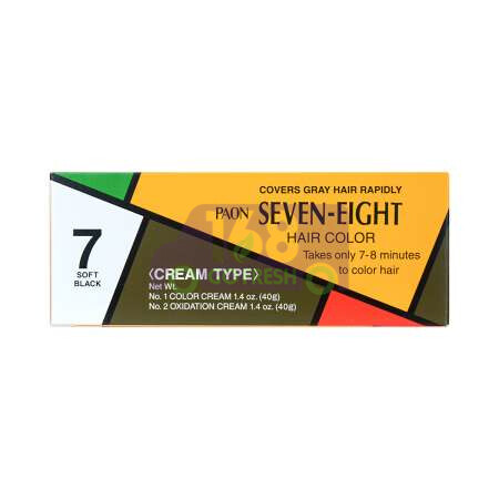JAPAN PAON SEVEN-EIGHT Permanent Hair Color Refill (#7 Soft Black ) 40g日本早染染发膏/染发剂 (#7 柔黑色 Soft Black) 40g
