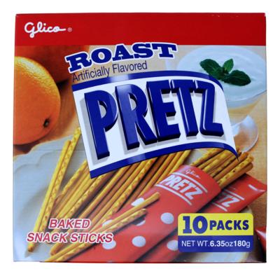 PRETZ ROAST SNACK STICKS 日本 PRETZ 烤饼干条(6.35OZ)