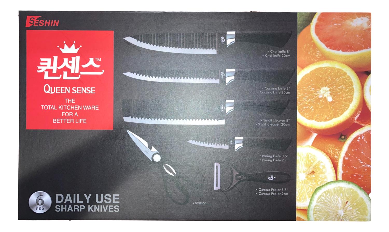 QUEEN SENSE KITCHEN WARE 6PCS 厨具六件套(刀具,剪刀)