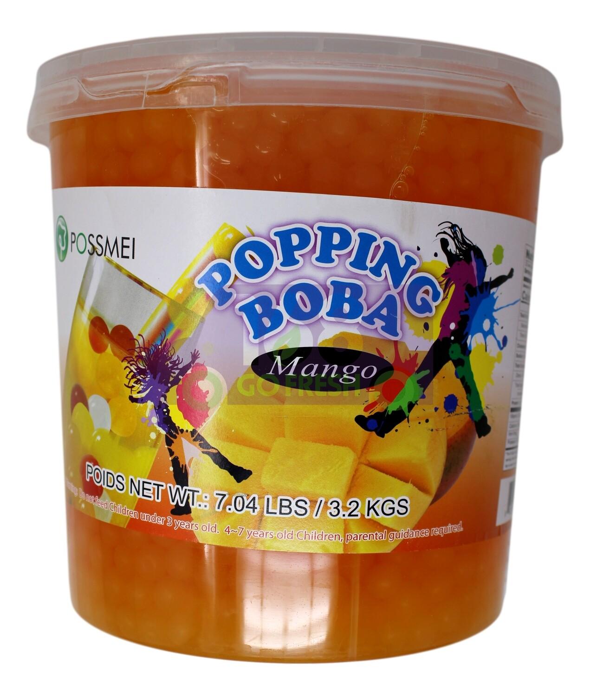 Possmei Popping Boba Mango 爆爆珠 波霸 芒果味(7.04LB)