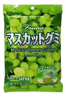 KASUGAI MUSCAT GUMMY CANDY 日本KASUGAI 青提子软糖(3.77OZ)