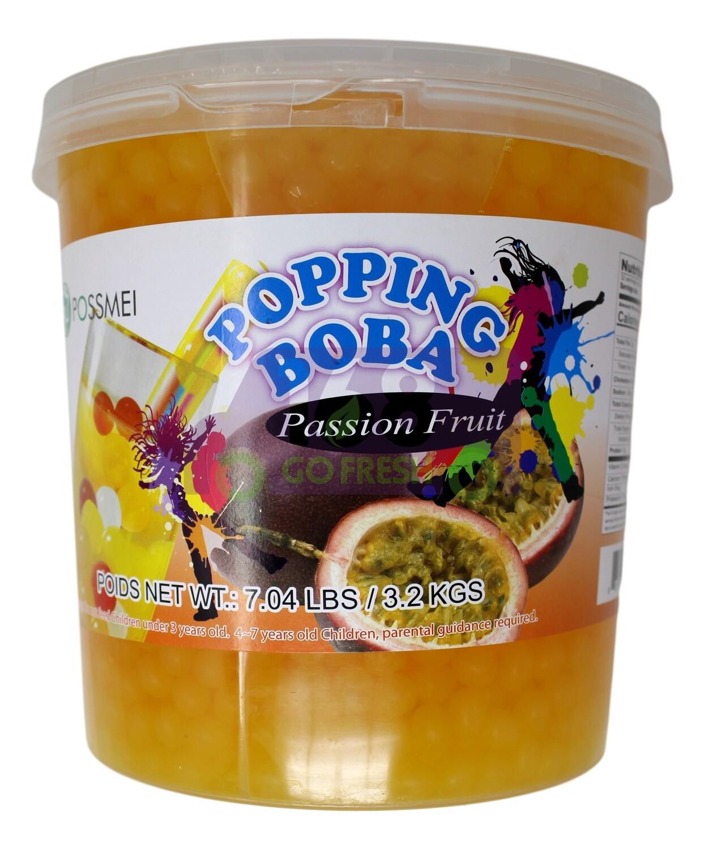 Possmei Popping Boba Passion Fruit 爆爆珠 波霸 百香瓜味(7.04LB)