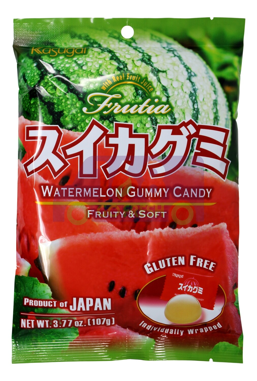 KASUGAI WATERMELON GUMMY CANDY 日本KASUGAI 西瓜软糖(3.77OZ)