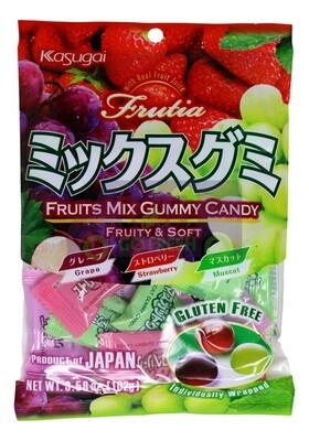 KASUGAI FRUITS MIX GUMMY CANDY 日本KASUGAI葡萄草莓软糖(3.59OZ)