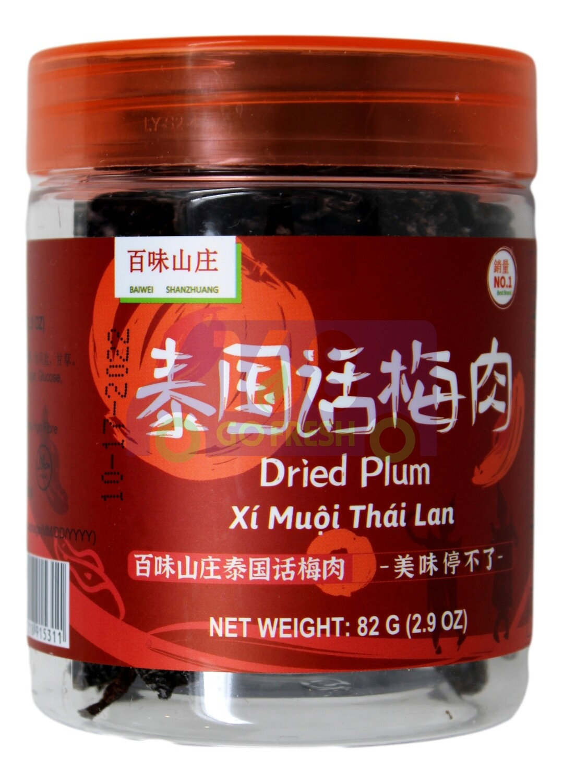 Dried plum 百味山庄 泰国话梅肉(82G)