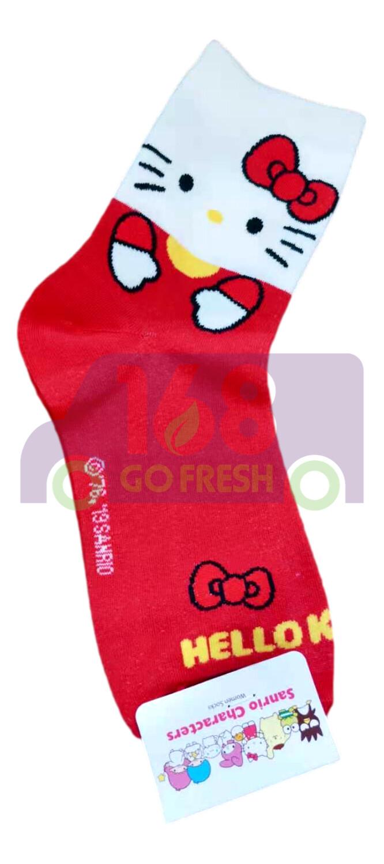 Hello Kitty  Socks 1pair 凯蒂猫长袜1对-红色(8809063540940)