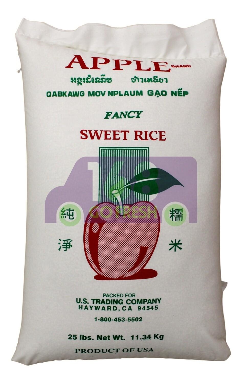 APPLE SWEET RICE 25LB 苹果 圆糯米(25LB)