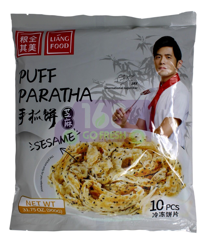 LIANG FOOD PUFF PARATHA (SESAME) 粮全其美 手抓饼 芝麻味(900g)