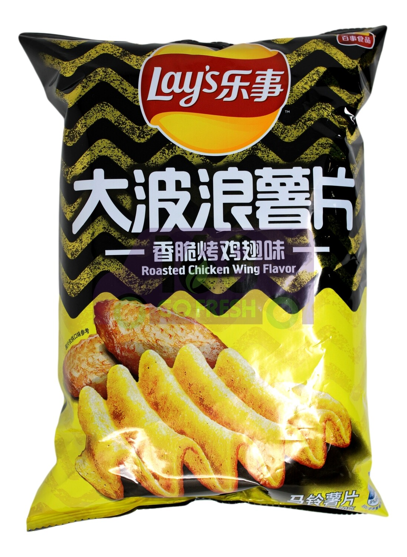 LAY'S POTATO CHIP CHICKEN WING  FLAVOR 乐事 大波浪薯片 香脆烤鸡味(70G)