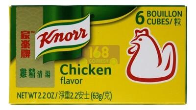 KNORR CHICKEN BOUILLON 家乐牌鸡精清汤(6粒装) 2.2OZ