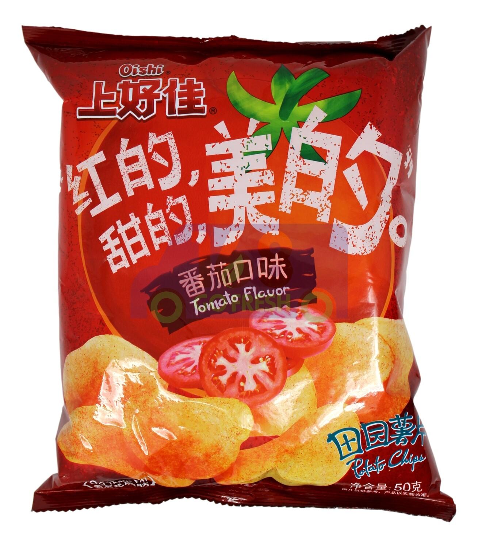 OISHI Tomato Chip 上好佳 番茄口味田园薯片(50G)