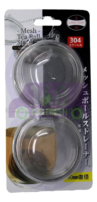 9CM TEA BALL STRAIN 天池 9cm不锈钢茶叶球形滤网