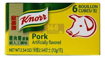 KNORR PORK BOUILLON 家乐牌猪肉精清汤(6粒装)